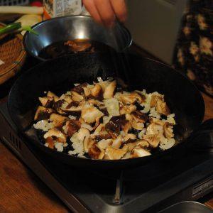 しいたけとアサリの洋風炊き込みご飯3