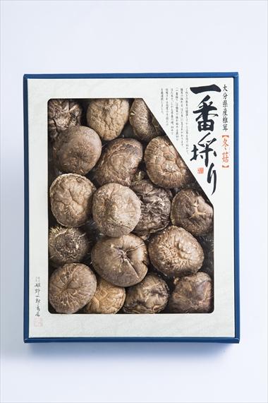 姫野一郎商店_お歳暮商品2016_大分県産特選椎茸「上どんこ」160g
