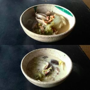 しいたけの中華風スープ4