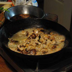 しいたけとアサリの洋風炊き込みご飯4