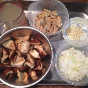 しいたけとアサリの洋風炊き込みご飯1