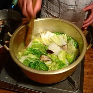 しいたけの中華風スープ3