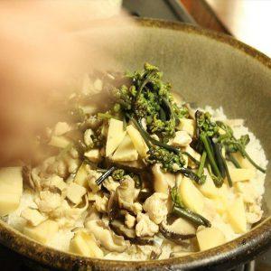 しいたけレシピ_しいたけと山菜の炊き込みご飯④